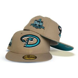 New Era Exclusive Fitted Tan Diamondbacks Teal Bottom 10th Ann. Side Patch 7 1/2