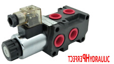 Hydraulic 6 Port Solenoid Diverter Selector Valve 1/2 BSP 24VDC 13gpm 50L DVS6