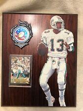Dan Marino Custom Wall Plaque w/ Pacific Gold Collection Card