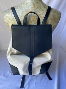 Women's Deux Lux Canvas And Vegan Leather Backpack Adjustable Straps One