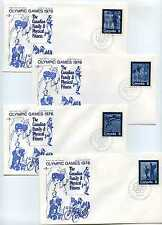 Canada 629-32 Summer Sports, 'Keep Fit', RoseCraft, set of 4, Fdcs