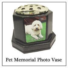 Pet Memorial Plaque Vase Pot - Any cat dog rabbit photo Printed - not engraved