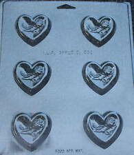 HEART WITH ROSE CANDY MOLD MOLDS PARTY FAVORS BIRTHDAY WEDDING CUPCAKE TOPPER