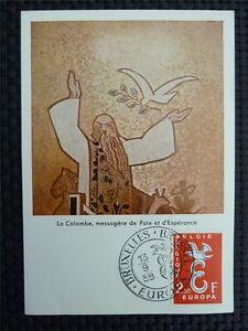 BELGIEN MK 1958 EUROPA CEPT TAUBE PIGEON MAXIMUMKARTE MAXIMUM CARD MC CM c3422