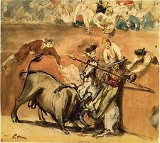 Manet Drawing: The Bullfight,1865 - Fine Art Print
