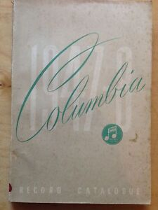 Alphabetical Catalogue of Columbia Records 1947