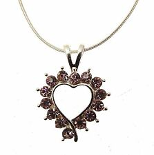 Pink Heart Necklace Pendant Pink Heart Jewellery 114310