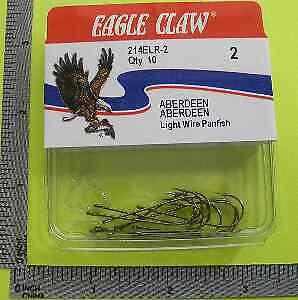 Eagle Claw 214ELR #4 10CT Bronze Wire Aberdeen Hooks