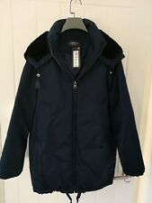 Marks And Spencer Woman Padded Puffer Navy Jacket Coat Size 12 BNW RRP £89