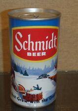 Schmidt Logger /Moose Pull Tab Beer Can Bottom Open Heileman Lacrosse 5 city