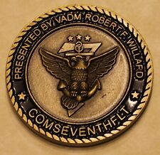 Vice Admiral Robert F Willard Navy Challenge Coin