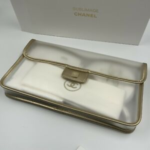 New, Chanel Sublimate Clear Flag Bag With Hair Band, Glove Set & Face Towel