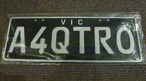 Audi A4 Custom Number Plates, Never Used (Vic). Pick-Up Only