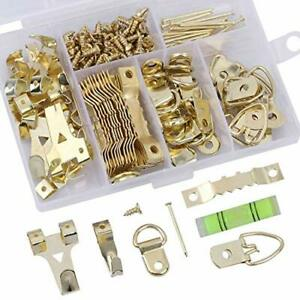 180 Picture Frame Hanging Hardware Set-D Ring, Sawtooth Photo Hangers Painting H