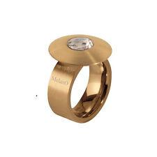 Melano Cameleon Anello acciaio inox 10 mm TG 56 CON DISCO E ZIRCONI