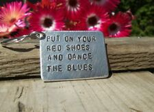 DAVID BOWIE Keyring Put on your red shoes & dance the blues Gift Lyrics keychain