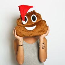 NEW POO EMOJI CHRISTMAS WITH SANTAS HAT