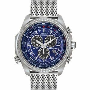 Citizen Men's Chronograph Eco-Drive Perpetual Calendar Mesh Watch BL5401-50L