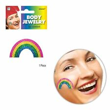 Gay Pride Glitter Rainbow Sticker Body Face Temporary Tattoo Parade Party LGBT