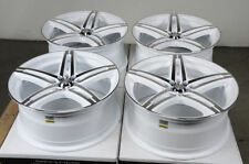17 5x114.3 5x100 White Wheels Fits Accord Mazda 3 6 Is250 Is350 Civic 5 Lug Rims