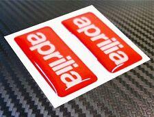 2 ADESIVI APRILIA RESINATI ADESIVO RESINATO APRILIA 3D STICKERS 3X1,5 CM COD.08