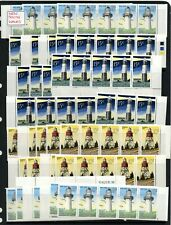 More details for new zealand lighthouses mnh strips 100+ life insurance stamps ws23875
