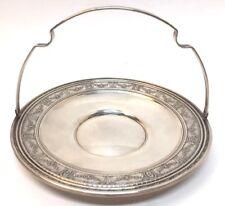 International Sterling Silver Round Bon Bon Maintenon Handled Tray Hollowware