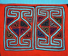 Traditional  Reverse Appliqué Fabric Mola Textile Panel Sewn Kuna Tribal Women