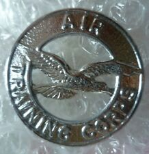 VINTAGE Air Training Corps Cap Badge 2 Lugs Chrome