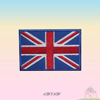 Union Jack Flag UK National Flag Embroidered Iron On Patch Sew On Badge Applique