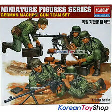 Academy 13259 1/35 Plastic Model Kit German Machine Gun Team Set Miniature