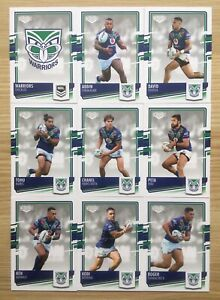 2021 NRL ELITE SERIES RUGBY LEAGUE CARDS - NEW ZEALAND WARRIORS TEAM SET