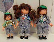 Lot 3 poupées famille Delavennat