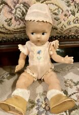 1940's Fully Jointed Composition Marked Ginny Toodles Doll in Original Outfit