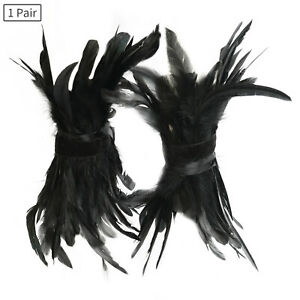 1 Pair Gothic Black Feather Foot Ring Stage Catwalk Cosplay Costume Accessory