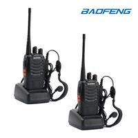 2 Pack Baofeng BF-888S 5KM UHF 400-470MHz 5W WALKIE TALKIE Ricetrasmettitori