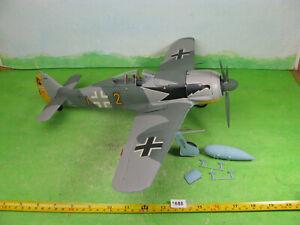 vintage airfix model kit built aircraft 1/24 focke wulf 190a 1688