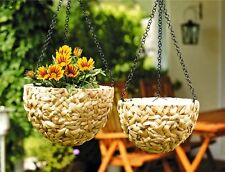 Blumenampel 2 er Set Pflanzampel Pflanztopf Pflanzhänger Hängeampel Blumenkorb