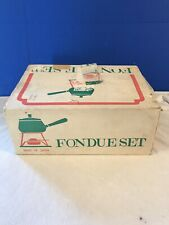 NOS Vintage 1960s Fondue Set Yellow Made In Japan