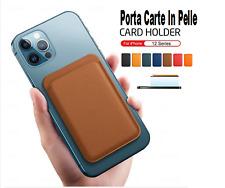 Portafoglio MagSafe per iPhone 12 Pro Max Mini eco pelle porta carte di credito