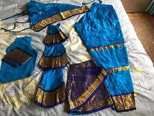 Turquoise Blue 100% Pure Silk Dharmavaram Bharatnatyam Dance Costume Women's M