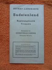 Heimat-Landkarte Sudetenland Regierungsbezirk Troppau - Heimatverlag Renner