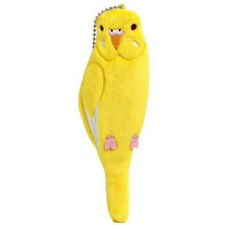 Soft and Downy Plush Bird Stuffed Chain Type Petit Pouch Case Cover (Yellow)