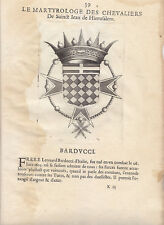BB962-LE MARTYROLOGE DES CHEVALIERS DITS DE MALTE-BARDUCCI