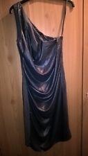 All Saints grey draped front knee lenght one shoulder dress size 6