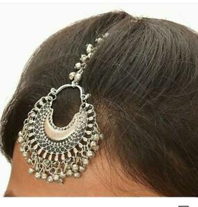 Indian Ethnic Traditional Bollywood Style Bridal Silver Oxidized Maang Tikka