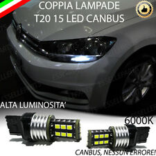 COPPIA LUCI DIURNE DRL 15 LED T20 CANBUS VOLKSWAGEN TOURAN 5T1 6000K NO AVARIA