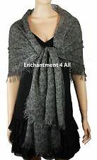 "Elegant Handmade Super Large 80""x35"" Leopard Print Scarf Shawl Wrap Sarong, Gray"