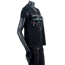VALENTINO 995$ Jersey Jamie Reid Embroidery Black Cotton T-Shirt