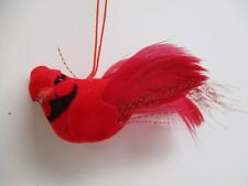 Lot of 12 Artificial Red Bird Cardinal Ornaments mushroom birds